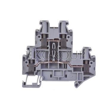 Złączka szynowa 2-piętrowa 6mm2 UTTB 4 szara 3044814-213714