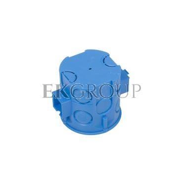 Puszka podtynkowa 60mm głęboka z wkrętami niebieska S60Dw 34069203-211982