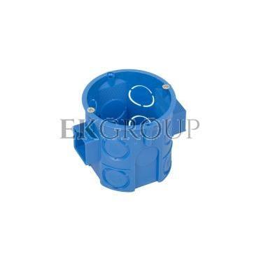 Puszka podtynkowa 60mm głęboka z wkrętami niebieska S60Dw 34069203-211983
