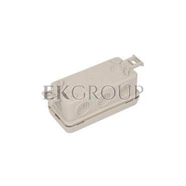 Puszka n/t hermetyczna pusta 89x42x38mm IP54 z dławicą zintegrowaną szara N8 83008002-211152