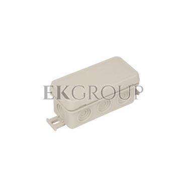 Puszka n/t hermetyczna pusta 89x42x38mm IP54 z dławicą zintegrowaną szara N8 83008002-211153