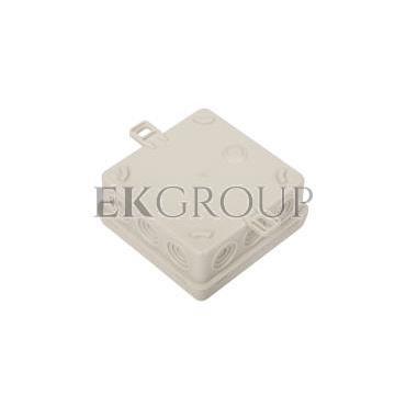 Puszka n/t hermetyczna pusta 85x85x38mm IP54 z dławicą zintegrowaną szara N6 83006002-211154