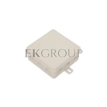 Puszka n/t hermetyczna pusta 85x85x38mm IP54 z dławicą zintegrowaną szara N6 83006002-211155