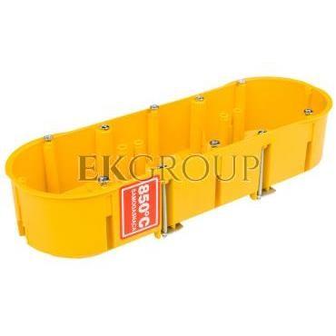 Puszka podtynkowa potrójna 60mm regips żółta PK-3x60 0234-0N-211089