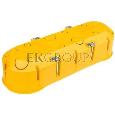 Puszka podtynkowa potrójna 60mm regips żółta PK-3x60 0234-0N-211090