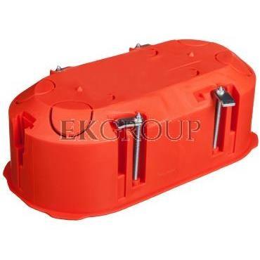 Puszka podtynkowa 2x60mm p/t regips pomarańczowa PK-2x60 0210-00-211107