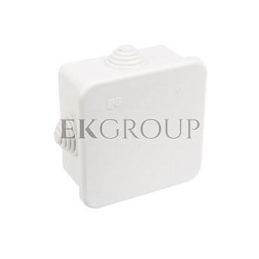 Puszka n/t hermetyczna pusta 80x80x42mm IP44 biała 0242-00-211162