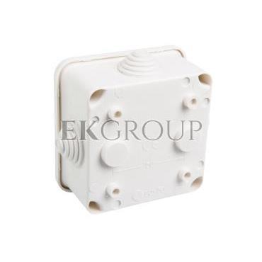 Puszka n/t hermetyczna pusta 80x80x42mm IP44 biała 0242-00-211163