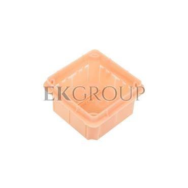 Puszka podtynkowa 96x96x62mm pomarańczowa Pp/t 3 11.3-212049