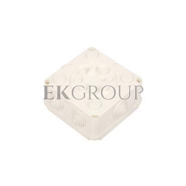 Puszka hermetyczna pusta 118x118x60mm IP55 biała PK-2 118x118x60 0222-00-211262