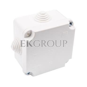Puszka n/t hermetyczna pusta dla Cu do 2.5mm2 88x88x60mm IP55 biała PK-1 0224-00-211264