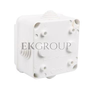 Puszka n/t hermetyczna pusta dla Cu do 2.5mm2 88x88x60mm IP55 biała PK-1 0224-00-211265