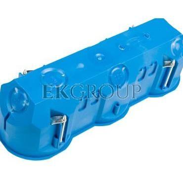 Puszka podtynkowa potrójna 60mm regips głęboka niebieska P3x60D 32104203-211094