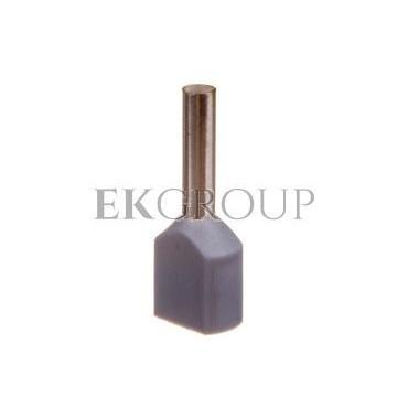 Końcówka tulejkowa izolowana HI 2X0,75/8 DIN E08KH-02020104201 /100szt./-210209