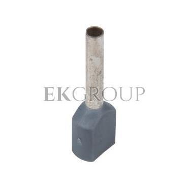 Końcówka tulejkowa izolowana HI 2x0,75/10 DIN szara E08KH-02020104501 /100szt./-210026