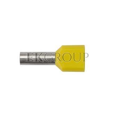 Końcówka tulejkowa izolowana HI 2X6/14 DIN żółta E08KH-02020102401 /100szt./-210088