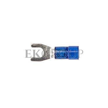Końcówka widełkowa izolowana KWI 2,5/4 PC E09KO-02030301100 /100szt./-210551