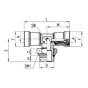 Złączka wtykowa C-TRUCK trójnik model 9412
