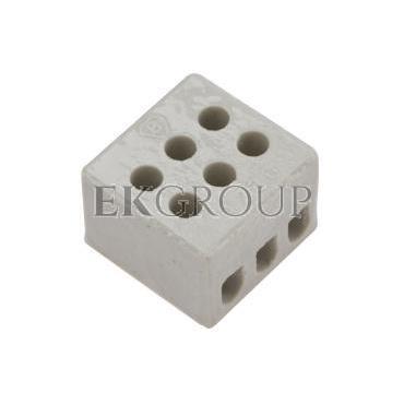 Złączka gwintowa porcelanowa 2,5mm2 3-tory biała ZPA 3-2.5 44233516-213028