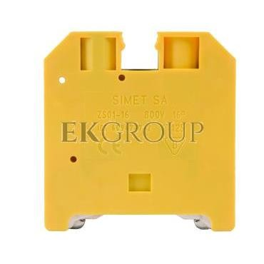Złączka szynowa ochronna 16mm2 zielono-żółta ZSO1-16.0 14603319-213426