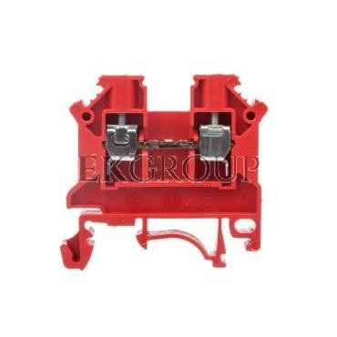 Złączka szynowa 2-przewodowa 2,5mm2 czerwona NOWA ZSG1-2.5Nc 11221311-213981