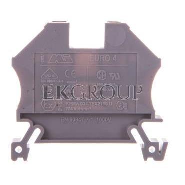 Złączka szynowa 2-przewodowa 4mm2 szara EURO 43409-213868