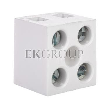 Listwa zaciskowa 2-torowa 4mm2 z podkładką biała LTE2-4.0P 25322426-213229