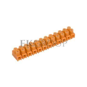 Listwa zaciskowa gwintowa 12-torowa 2.5mm2 pomarańczowa LTF 12-2.5 21210108-213052