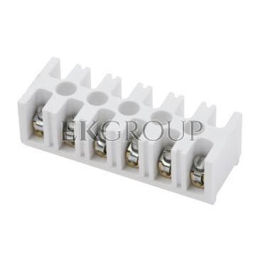 Listwa zaciskowa gwintowa 6-torowa 4mm2 biała LTE 6-4.0 25326406-213053