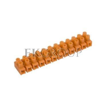 Listwa zaciskowa gwintowa 12-torowa 4mm2 pomarańczowa LTF 12-4.0 21310108-213054