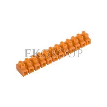 Listwa zaciskowa gwintowa 12-torowa 6mm2 pomarańczowa LTF 12-6.0 21412108-213055