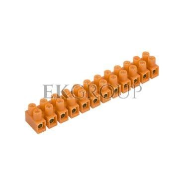 Listwa zaciskowa gwintowa 12-torowa 10mm2 pomarańczowa LTF 12-10.0 21512108-213056