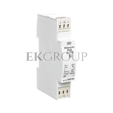 Ogranicznik przepięć dla systemów dwużyłowych 86VAC/122VDC 2,5kA 5kV FLD2-110 5098859-216397