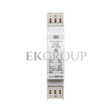 Ogranicznik przepięć dla systemów dwużyłowych 86VAC/122VDC 2,5kA 5kV FLD2-110 5098859-216398