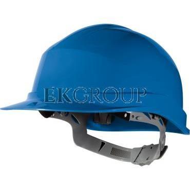 Hełm budowlany z polietylenu niebieski regulowany 440 VAC ZIRC1BL-215936