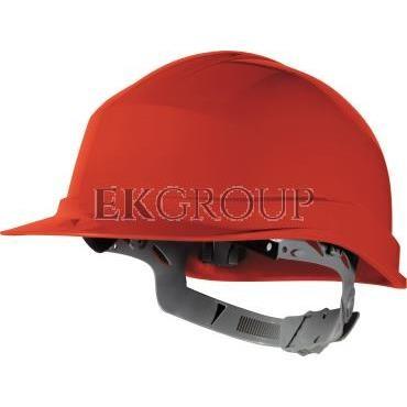 Hełm budowlany z polietylenu czerwony regulowany 440 VAC ZIRC1RO-215939