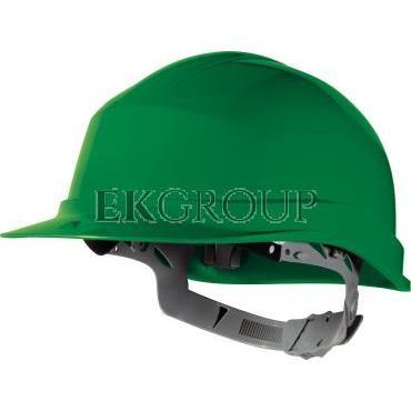 Hełm budowlany z polietylenu zielony regulowany 440 VAC ZIRC1VE-215940