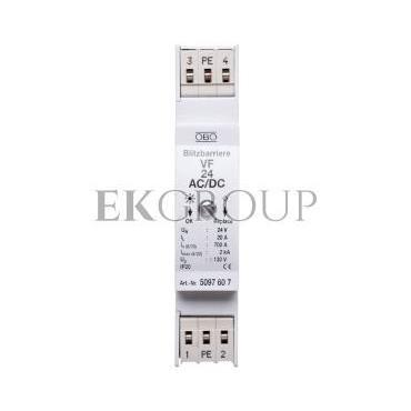 Ogranicznik przepięć dla systemów dwużyłowych 80VDC 0,7kA 1,2kV VF24-AC/DC 5097607-216871