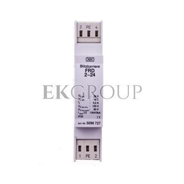 Ogranicznik przepięć dla systemów dwużyłowych 19VAC/28VDC 2,5kA 5kV FRD 2-24 5098727-216392
