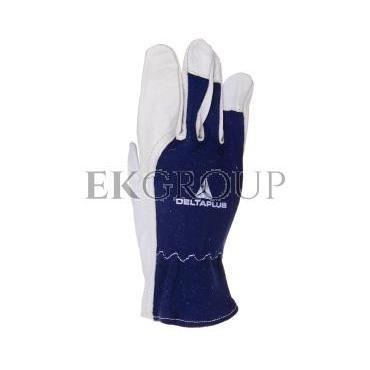 Rękawice ze skóry licowej koziej, krój amerykański CT402BL08-217388