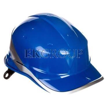 Hełm budowlany niebieski z ABS rozmiar regulowany DIAM5BLFL-215943