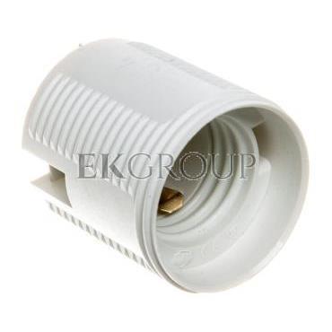 Oprawka izolacyjna FOBOS E27 jednoczęściowa z gwintem zewnętrznym biała OTE27-11/0/T-200588