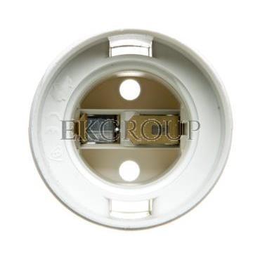 Oprawka izolacyjna FOBOS E27 jednoczęściowa z gwintem zewnętrznym biała OTE27-11/0/T-200589