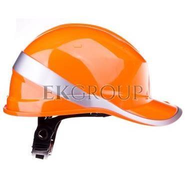 Hełm budowlany pomarańczowy z ABS, rozmiar regulowany DIAM5ORFL-215944