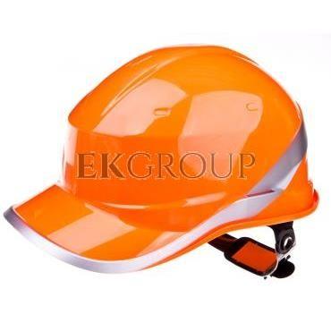 Hełm budowlany pomarańczowy z ABS, rozmiar regulowany DIAM5ORFL-215945