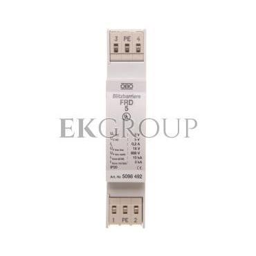 Ogranicznik przepięć dla systemów dwużyłowych 5VAC/8VDC 5kA 10kV FRD 5 5098492-216402