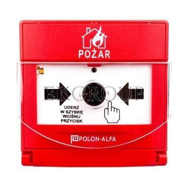 Ostrzegacz pożarowy reczny adresowalny, wtynkowy ROP-4001MH-216986