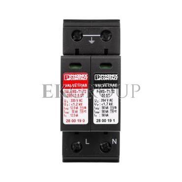 Ogranicznik przepięć typ B C 12,5kA 1,2kV 240V AC VAL-MS-T1/T2 335/12.5/1 1 2800187-216548