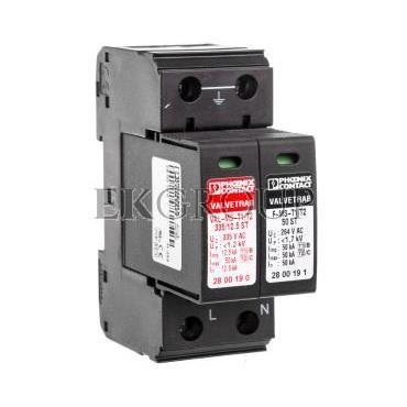 Ogranicznik przepięć typ B C 12,5kA 1,2kV 240V AC VAL-MS-T1/T2 335/12.5/1 1 2800187-216549