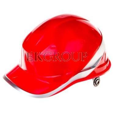 Hełm budowlany czerwony z ABS, rozmiar regulowany DIAM5ROFL-215953